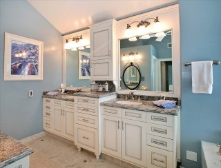 Master Bath Vanities with His and Her Medicine Cabinets