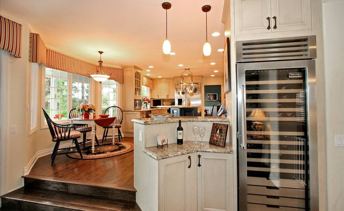 French Country Kitchen Wine Center Dorig Designs