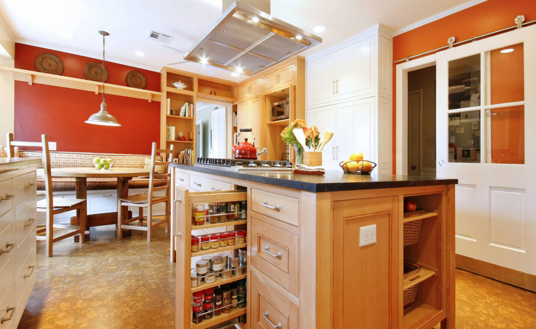 Eco Chic Kitchen Douglas Fir Island
