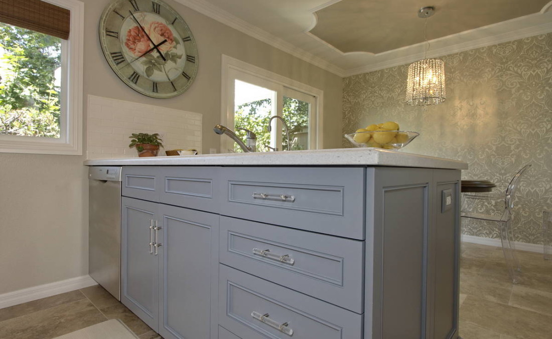 Blue Island with Lucite Pulls