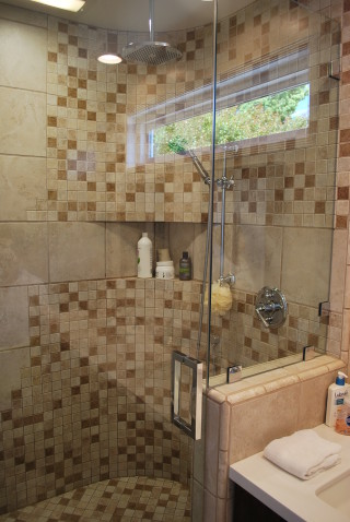 Curved Mosaic Shower