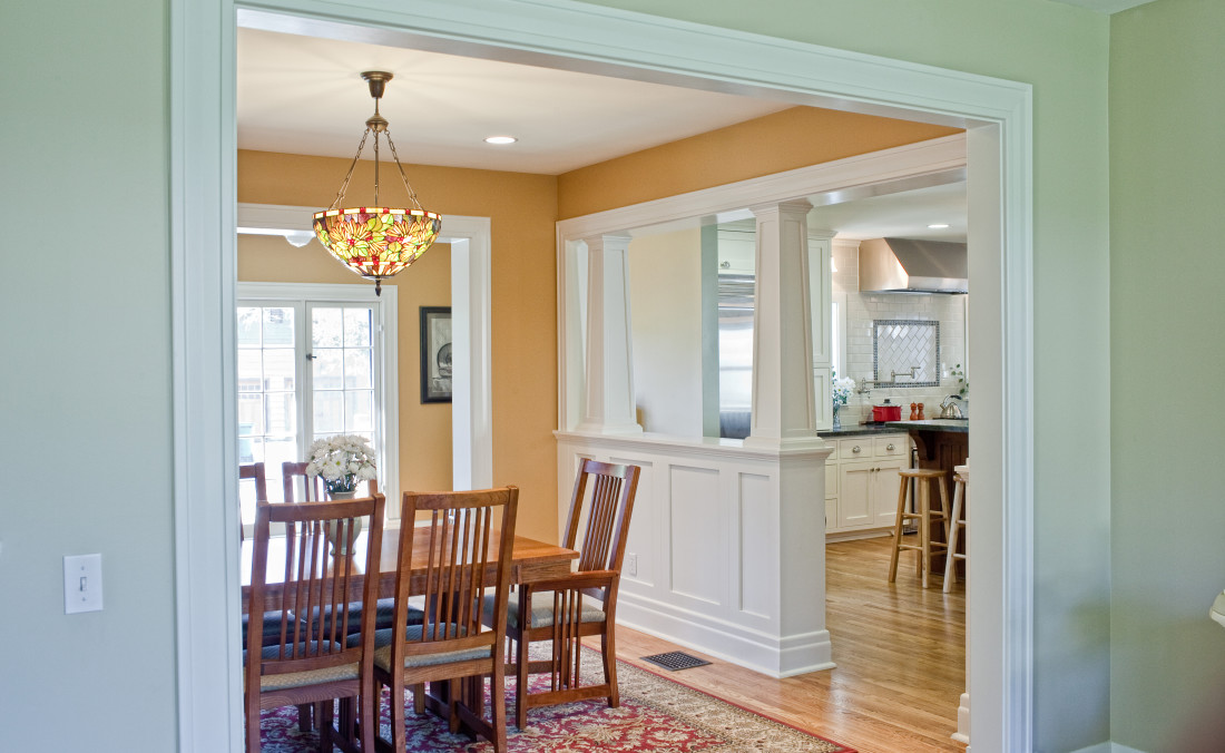 Colonial revival kitchen dorig designs Kitchen design colonial home