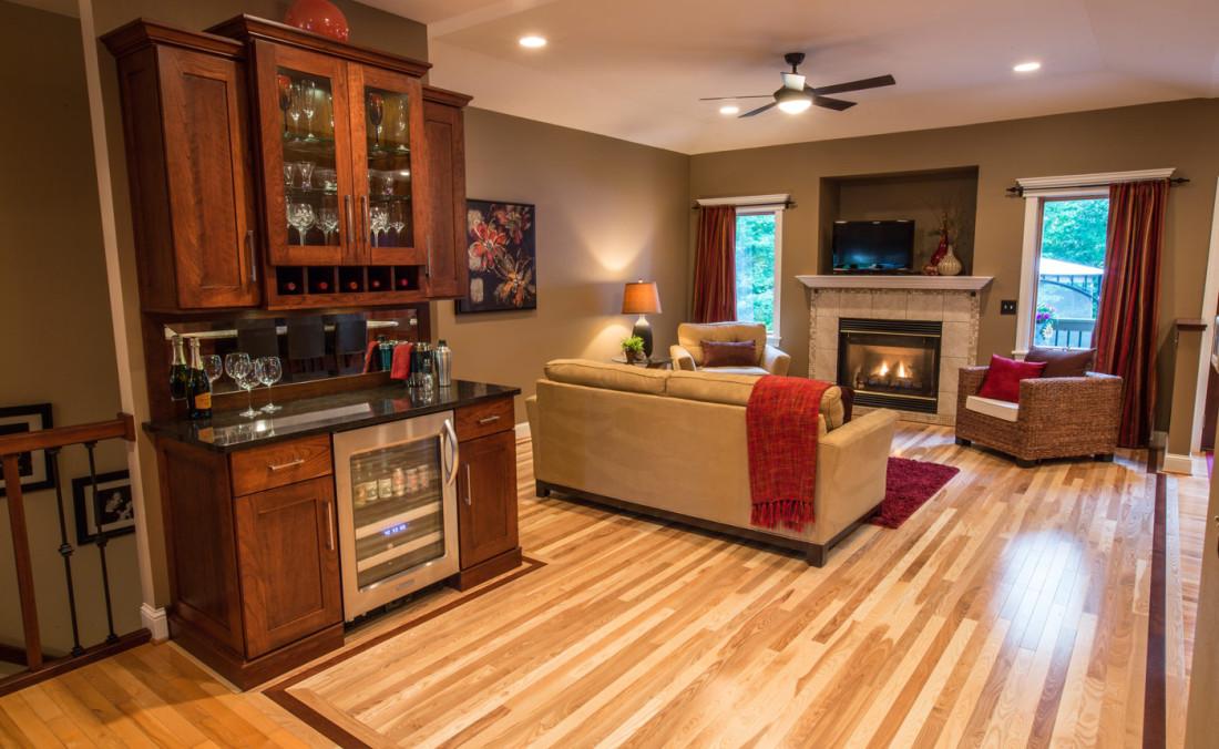 Beverage Center in Living Room
