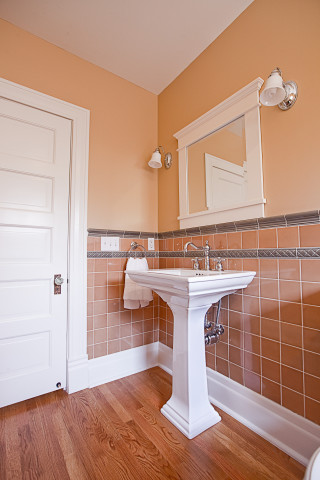 Colonial Revival Guest Bath