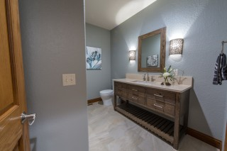 Weathered Oak Powder Bath