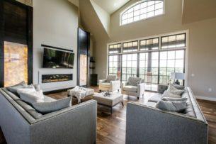 Quartzite Feature Fireplace
